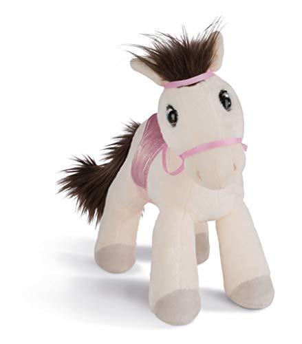 NICI 43213 Kuscheltier Pferd Ayeta mit Zaumzeug und Sattel, 25 cm, weiß