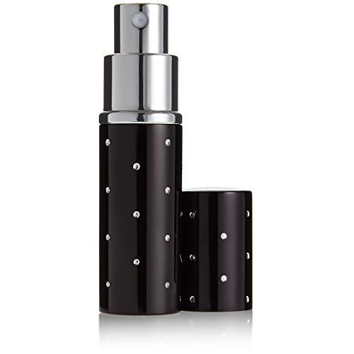 Taschenzerstäuber in Schwarz - nachfüllbar für 10ml, edler Parfum Zerstäuber für zuhause und unterwegs, Parfum Flakon Spray Flasche für die Handtasche, hochwertiges Geschenk für Frauen von Fantasia