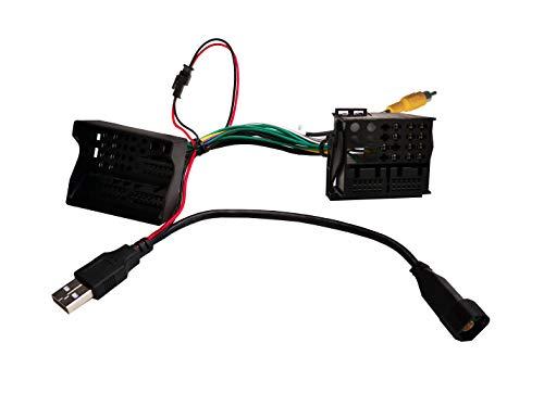 M.I.C.SKAA-60: Umrüst Adapter Quadlock MIB MQB Anschluss - Quad Lock RCD RNS Anschluss mit Rückfahrkamera Ausgang und USB Anschluss ersatz für VW