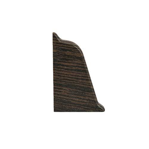 DQ-PP WINKELLEISTE ENDSTÜCK LINKS | Wenge | 38 x 25mm | PVC | Küchenleiste Arbeitsplatte Abschlussleiste Leiste Küche Küchenabschlussleiste Wandabschlussleiste Tischplattenleisten