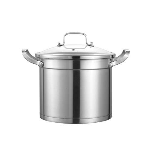 304 Pot À Soupe En Acier Inoxydable 26cm Ménage Épaississement Profonde Pot D'ébullition Pot De Cuisine Pot Profond Profondeur Grande Capacité Pot
