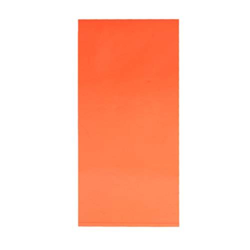 ZOOMY 10 × 20 cm Tablero de plexiglás de Color Hoja de acrílico DIY Accesorios para Juguetes Fabricación de Modelos - Naranja Transparente