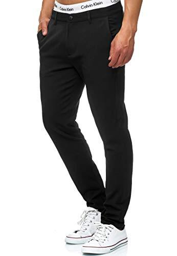 Indicode Herren Rodekro Chinohose Super Stretch | Lange Chino Hose m. 4 Taschen Herrenhose Männerhose Straight Man Pants Bequeme Regular Fit Stoffhose gerader Schnitt f. Männer Black 29/34