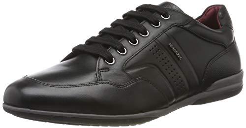 Geox U Timothy B, Zapatos de Cordones Derby para Hombre, Negro (Black C9999), 42 EU