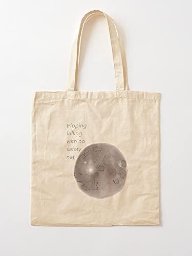 Générique Safety Net Quote Album Ari Ariana Moon groß   Einkaufstaschen aus Segeltuch mit Griffen, Einkaufstaschen aus nachhaltiger Baumwolle