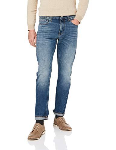 Calvin Klein Men's Slim Fit Jeans, Houston Mid Blue, 32W x 32L