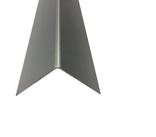 Alu Winkel Eloxiert Silber natur 2000 mm 1,0 mm (20 x 20 x 1,0 mm) Kantenschutz