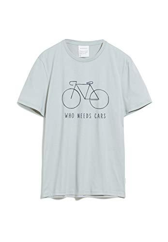 ARMEDANGELS Herren JAAMES City Bike - JAAMES City Bike - M Belgian Blue Shirts T-Shirt Kurzarm