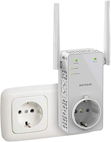 NETGEAR Répéteur WiFi (EX6130), Amplificateur WiFi AC1200, WiFi Booster, jusqu'à 90m² et 20 appareils, repeteur WiFi puissant , Prise de Courant Intégrée, compatible toutes Box