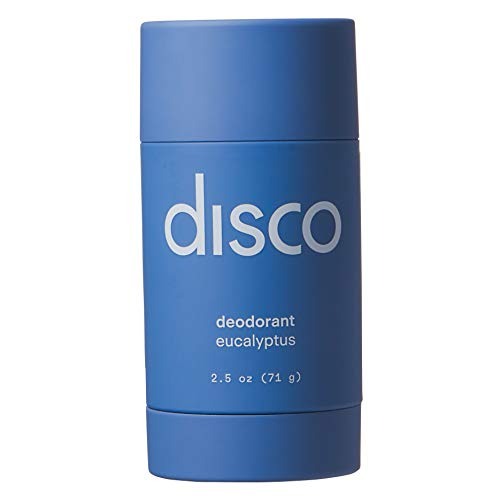 Deodorant by Disco for Men, Aluminum Free, Antibacterial, All Natural and Paraben Free, Eucalyptus Scent, 2.5 Ounces