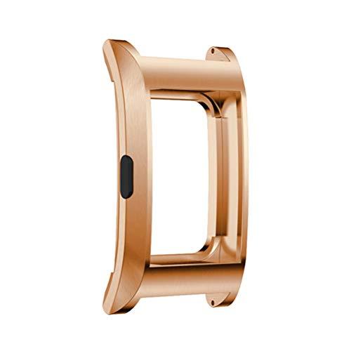 HEMOBLLO Anti-shock Metal Smart Watch Shell Cover protettiva per Fitbit Charge 2 (oro rosa)