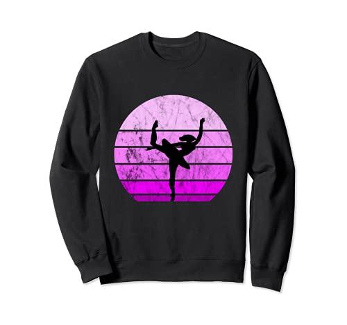 Bailarina Ballet Bailarina Retro Puesta de Sol Danza Artística Chica Sudadera