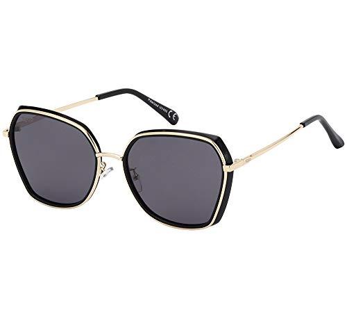 SQUAD Gafas de sol Polarizada para mujeres 100% de protección UV400 contra rayos UVA/UVB (C1)