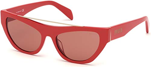 Sunglasses Emilio Pucci EP 0111 66Y Shiny Red/Pale Gold/Dark Vintage Pink Lens