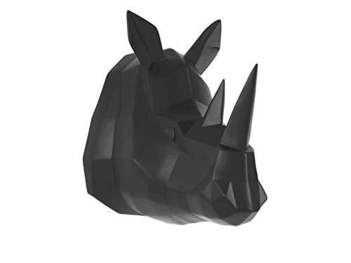 Present Time - Tête de rhinocéros Noir Origami