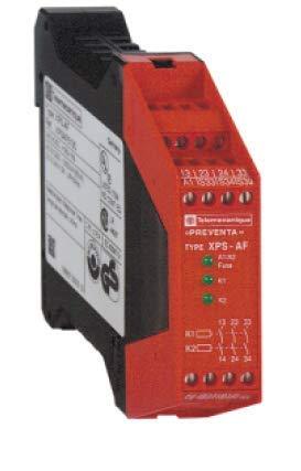 XPSAF5130 | SCHNEIDER Safety Relay, 24VAC/DC, 3NO, Captive Screw CLAMP TERMINALS