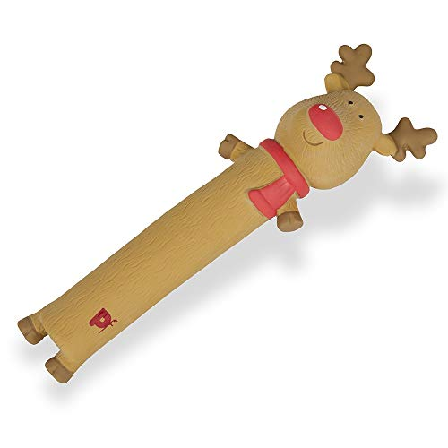Petface Christmas Festive Fun Latex Reindeer Loofah Dog Toy
