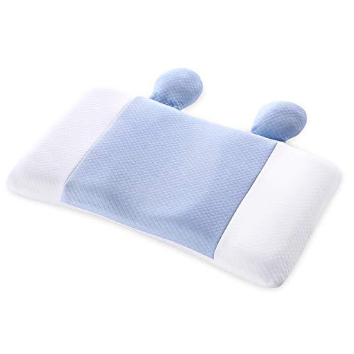 SONARIN Almohada para bebé niños,previene el síndrome de cabeza plana,transpirable y antialérgica,ayuda a la alineación correcta de la columna vertebral,para niños de 0 a 6 años,45 * 25 CM