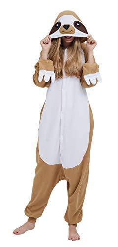 SAMGU Adult Pyjama Cosplay Tier Onesie Body Nachtwäsche Kleid Overall Animal Sleepwear Erwachsene Jumpsuit Costume Khaki L