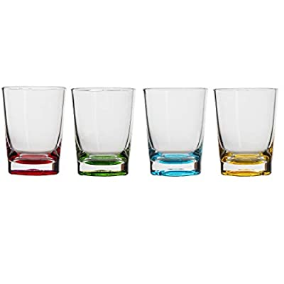 Lily's Home Shot Glasses, Premium 1.5oz Clear Acrylic Reusable Cups, Perfect for Any Liquor, Jello Shots, Condiments, Tasting, Sauce, Dipping and Food Sampling (Multi Color)