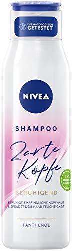 NIVEA Zarte Köpfe Shampoo Beruhigend (300 ml), sanft reinigendes Shampoo beruhigt die Kopfhaut, pH-optimiertes Haarshampoo pflegt intensiv