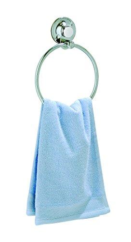 EverLoc Vakuumsystem-Nie Wieder Bohren EL-10239 Handtuchring für Handtücher oder Gürtel, Krawatten, Chrom, Maße: Ø18cm x 22cm, 18 x 18 x 22 cm