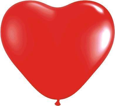 Ballonheld 25 große Herzballons rot 30cm Luft und Ballongas geeignet