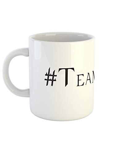 clothinx Kaffeetasse mit Aufdruck Hashtag Team Lucifer | Versüße Dir mit diesem Motiv Die Wartezeit Auf Die Nächste Staffel | Passend Zu Deiner Lieblings-Serie