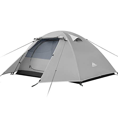 Forceatt Camping Tent 2/3/4 Person, Professional Waterproof & Windproof Lightweight Backpacking Tent Suitable for Outdoor,Hiking,Glamping, Mountaineering and Travel