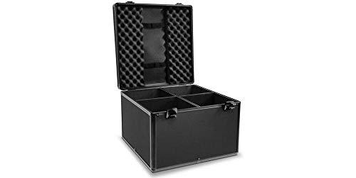 Audibax | Flight Case PRO-PAR | Maleta DJ para 4 Focos PAR 56 | Transporte Seguro de Cabezas Móviles | Protección con Espuma Alta Densidad | Robusta y Elegante | Compartimentos Individuales