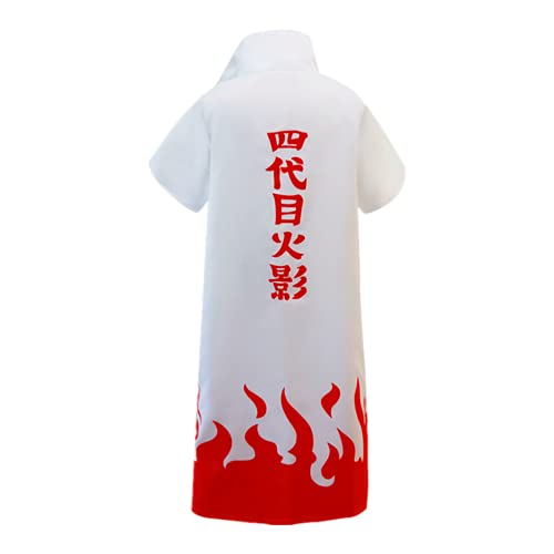 iirukaa 4th Naruto Hokage Cloak Unisex Long Robe Uniform Halloween Costume