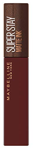 Maybelline New York Lippenstift, Super Stay Matte Ink Coffee, Flüssig, matt und langanhaltend, Nr....