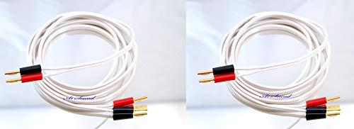 Color Dorado 4 Metre QED Reference XT25 2 Unidades, 4 mm, 8 enchufes en Total Cable de Altavoz