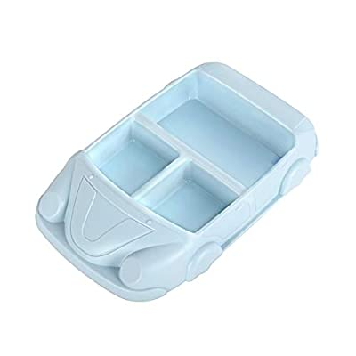 Kids Plates Divided Baby Feeding Supplies Toddler Dinnerware Unbreakable Tableware Children Dishes BPA Free Non-Toxic with 3 Dividers Cute Car