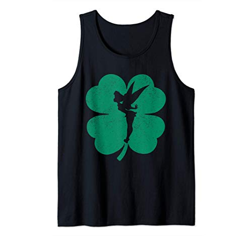 Disney Tinker Bell Green Shamrock St. Patrick's Day Tank Top