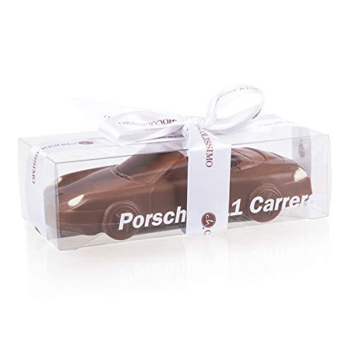 Porsche Cabrio - Schokoladenauto - Auto aus Vollmilchschokolade | Geschenk für Autoliebhaber | Kinder | Erwachsene | lustige Geschenkidee | Mann | Frau | Vatertag | Geburtstag | Männer | Weihnachten