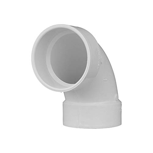 CHARLOTTE PIPE 4 DWV 1/4 Bend HUB X HUB DWV (Drain, Waste and Vent) (1 Unit Piece)