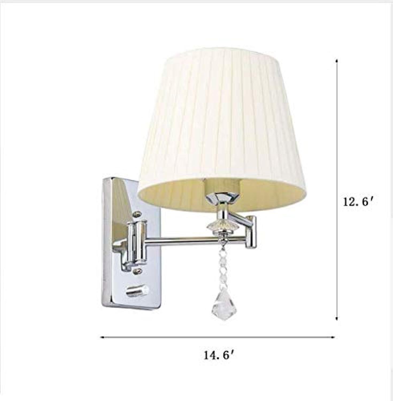 Wandleuchten Nachtleselampe Schwenkarm Wandleuchte E27 Kristall Wandleuchte Badezimmer Lichter