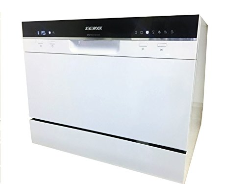 SoloRock 6 Settings Countertop Dishwasher - White Color