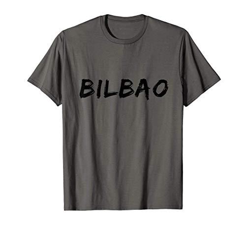 Bilbao Negro Vintage Font Hombres Y Mujeres Camiseta