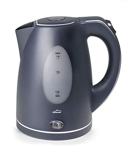 Lacor 69590 Hervidor eléctrico 2200 W, Libre de BPA, 1\'30 L, Plástico, Gris