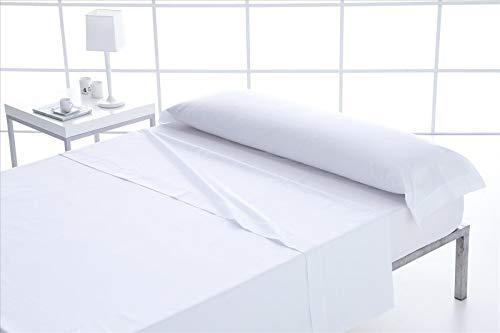 ForenTex - Juego de sábanas, (L-Blanco), 100% algodón, Blancas, Cama de 135 cm, Pieles sensibles, lo Natural y ecológico es Siempre un acierto, 144 Hilos