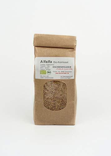 Eschenfelder Alfalfa Organic Germination Seed 125 g | for Sprout Glass | Non-Mucous