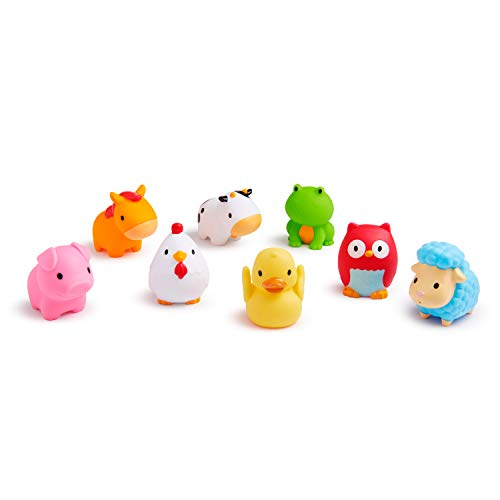 Barnyard Squirts are fun bath time toys for toddlers