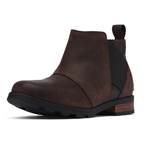 Sorel - Women's Emelie Chelsea Waterproof Ankle Boots, Cattail, 9.5 M US