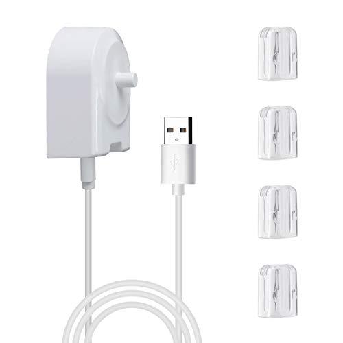 AIEVE Ladegerät für elektrische Zahnbürste, kompatibel mit Philips Sonicare HX6511 HX6631 HX3110 HX8140 HX8911 HX9172, USB-Ladegerät (mit Zahnbürstenkopfabdeckungen)