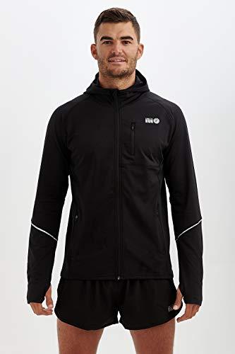 Time To Run męska szybkoschnąca termiczna bluza z kapturem z kieszeniami i kotłami średnia 100 cm - 112 cm czarna