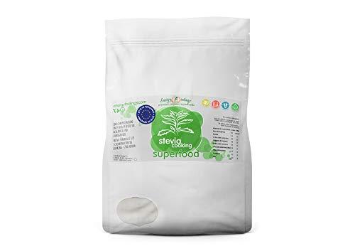 Energy Feelings Stevia Cooking | Eritritol con Stevia en Polvo | Edulcorante y Endulzante Natural | Sin Azúcar | Sin Gluten | Vegano | Edulcorante para Cocinar | 1 Kg