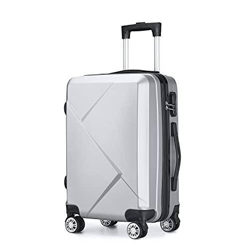 Valigia universale per bagagli, borsa per studenti di moda, nero, viola, argento e altri colori. Dimensioni: 20 '(35/23/56cn), 24' (42/26/66cm)