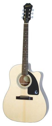 Epiphone AJ-100CE Cutaway Akustische/Elektrische Gitarre (Mahagoni Korpus, Ausgewählte Fichtendecke, 25.5 Mensur, Palisander Griffbrett, Mahagoni Hals)